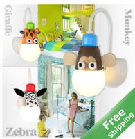 Baby Room LED animal Wall Light+3 Animal Designs for option +3watt LED Included+ Free shipping