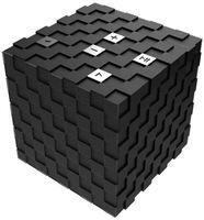 Rubik's cube design bluetooth 3.0+EDR mini portable wireless bluetooth speaker free shipping