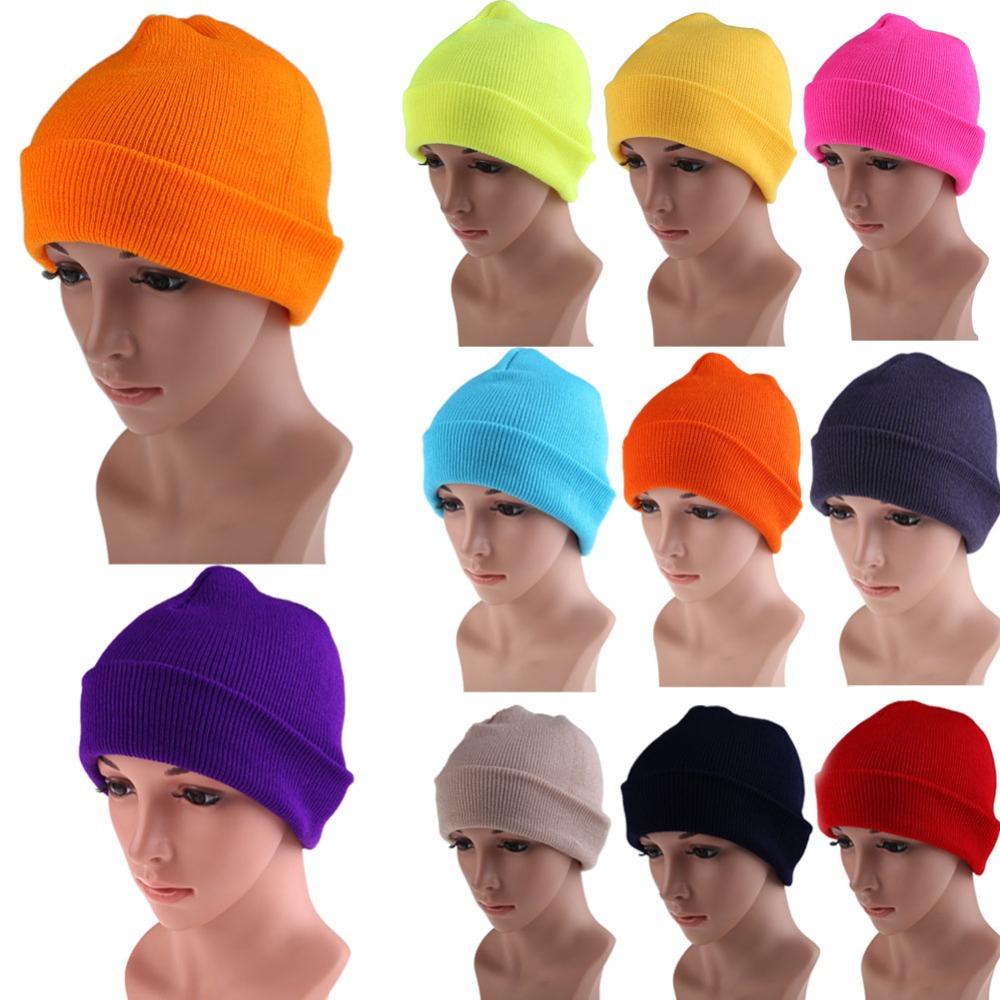 Men's Women Beanie Knit Ski Cap Hip-Hop Color Winter Warm Unisex Wool Hat EMS DHL Free Shipping Mail(China (Mainland))