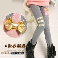 Children's clothing 2014 autumn and winter female child legging plus velvet thickening patchwork child legging