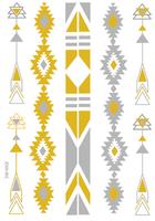 Wholesale fashion gold silver flash tattoo stickers , cheap tattoo ink kits, mixed designs 4pcs a lot  free shipping