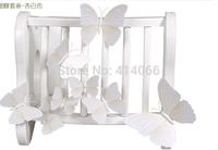 New 12Pcs/Lot Vinyl 3D White Butterflies For Wall Art Decal Removable Home Decoration DIY Beautiful Wall Stciker Home Decor