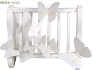 New 12Pcs/Lot Vinyl 3D White Butterflies For Wall Art Decal Removable Home Decoration DIY Beautiful Wall Stciker Home Decor