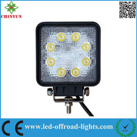"5"" HIGH INTENSITY 8pcs*3W 24W LED WORKING LIGHTS EPISTAR LED LIGHT BLACK COLOR OFFROAD WORKING LIGHTS TRUCK DRIVING LIGHT"