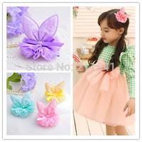 Lovely kid girls rabbit ear barrettes hair clips sweet hair pins children bobby pins cute hair accessory mix colors