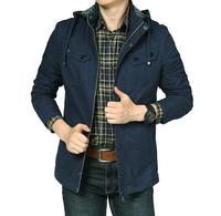 Brand  men jacket autumn cotton casual winter outdoor coat slim fit  comfortable neckline  inside pocket fashion shoulder