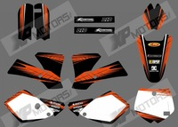 0526 NEW STYLE MOSTER (Orange & Black)TEAM GRAPHICS & BACKGROUNDS DECALS STICKERS Kits for KTM SX65 2002-2008