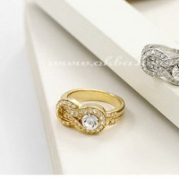 Korean jewelry wholesale jewelry ring shape buckle-1015-4 ( Gold ) Korea jewelry