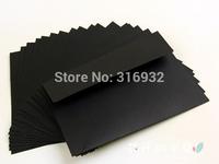 20pcs/lot 17.5*12.5CM Import black Kraft Paper Envelopes Blank No Printing DIY Hand-Painted envelopes de papel