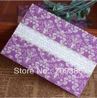 Purple vintage decorative pattern postcard envelope