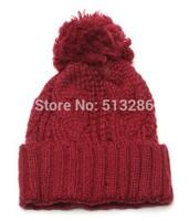 1 pcs free shipping 2014 new men and women winter warm knitted cap Fashion hats Flanging earmuffs hat