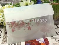 20pcs/lot 17.5*12.5CM peach blossom translucent Scrapbooking Paper Envelopes Vintage Mini Envelope Color