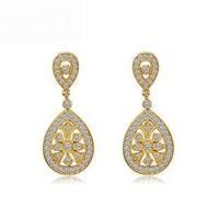 Chinese  Earrings In 18K Gold Plated Earrings Vintage Pattern Design Women's Earrings Wholesale Trade AAA Cubic Zirconia