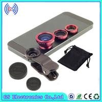 3 In 1 Universal Fish Eye Lens For  All Phone Mobile Lens Camera Full Kit For IPhone 4 5 6 For Samsung S4 S5 note2 3