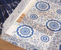 20pcs/lot 17.5*12.5CM Blue and white porcelain translucent Scrapbooking Paper Envelopes Vintage Mini Envelope Color