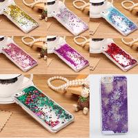 "Mobile Phone Cases For iPhone 6 4.7"" Transparent Quicksand Glitter Stars Bling Hard Back Case Cover"