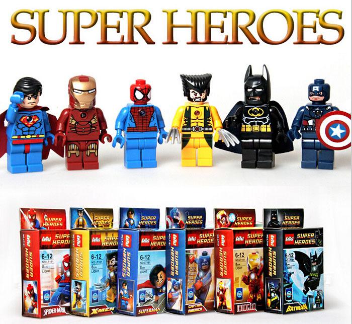 2014 New 6pcs/lot Marvel Super heroes avengers action figure minifigures building blocks classic toys brinquedos meninos(China (Mainland))