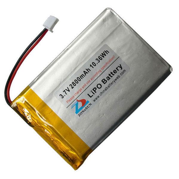 Shun 2800mAh 3.7V lithium polymer battery 535276 77x52x5.5mm PDA GPS phone(China (Mainland))