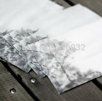 20pcs/lot 17.5*12.5CM Ink painting translucent Scrapbooking Paper Envelopes Vintage Mini Envelope Color