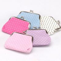 drop shipping The new 2014 Miss idyllic small dot fabric purse