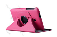 100pcs/Lot for ASUS Fonepad 7 FE170  360 Degrees Rotating Rotation Protective PU Leather Case with Stand