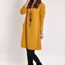 Ropa Otoño Invierno para Mujeres Embarazadas manga larga amarilla Maternidad Ropa Embarazo Vestido Casual Wear Para las Partes más el tamaño(China (Mainland))