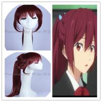 Free! Gou Matsuoka cosplay wig purplish red wig free shipping + a wig cap