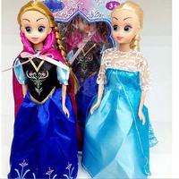 walking doll toy Frozen  princess sing the theme music frozen snow princess ANNA doll toy Free shipping