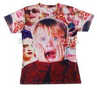 2014 new men/women 3D T-shirts print  Macaulay/Culkin/Pizza Party Monster 3D Tops T-shirt S M L XL XXL