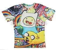 Hot sale New fashion 2014 Mens/Womens Short Sleeve Adventure Time 3D Fun T-shirt Women Men Tops T-shirt S M L XL XXL