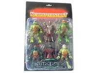 NEW HOT 6 pieces/set 12cm Anime Cartoon TMNT Teenage Mutant Ninja Turtles model PVC Action Figure Toys Dolls