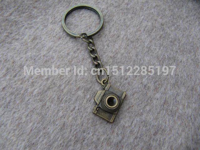 camera keychain bronze camera Keychain antique jewelry steampunk gift(China (Mainland))