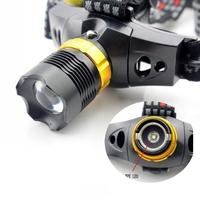 3 pcs/Lot _ CREE Q5 LED 3 Mode Waterproof Zoomable Headlamp Headlight For Hiking
