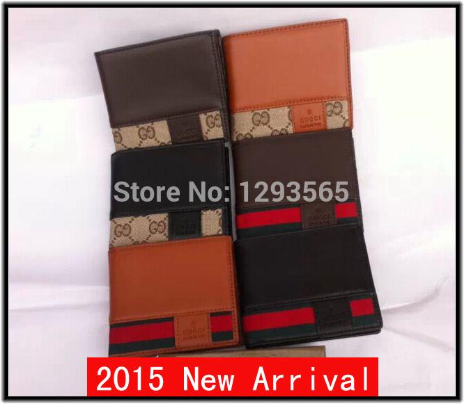 2015 neuankömmling Versandkosten frei modemarke brieftasche männer brieftasche und Frauen portemonnaie leder brieftasche karte bisschen mehr brieftasche