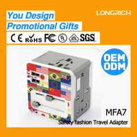 FREE SHIPPING China LONGRICH Portable Multi-Nation Usb Universal Travel Adapter(A7)