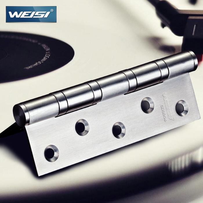 Free shipping authentic Visa SUS304 stainless steel muffler bearing hinge door hinge ball 5 inch thick 2 installed(China (Mainland))