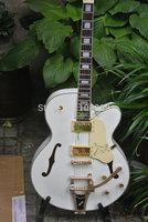 New Custom 6120 Jazz  White Bigsby Tremolo Electric Guitar In Stock