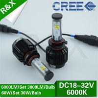 New All in One  60W car led CREE headlight HB4 9006 6000LM 10v-30v 5000k 6000K 8000k cree led car led headlight car headlight