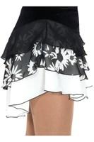 Shiver skating suit  short skirt - black white skating skirt hot sell and free shipping