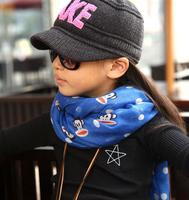 2015 Autumn  Winter Children Cotton Blended Scarf Shawl Kids Cute Big Monkey Warmer Fashion  Wraps Scarves 9 Colors Hot Sale