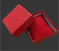 Free Shipping Wholesale 20pcs/lot 8.8x8.2x5.5cmH Watch Box With Pillow Jewelry Packaging Box Bracelet Box Red Color