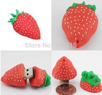 New Cartoon Watermelon/strawberry model usb 2.0 memory flash stick pen thumbdrive/novelty item