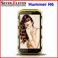 "Newest Hummer H6 IP68 Waterproof Phone MTK6582 Quad Core 5.0"" HD Screen 1G RAM 8G ROM Android 4.2 3G PTT Phone HUMMER H6"