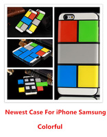 Checkered Hybrid TPU+PC 2 in 1 Combo Hit Color Case Cover For iphone 6 6g 4.7 inch Antiknock Shockproof  WIN Design 10pcs/lot