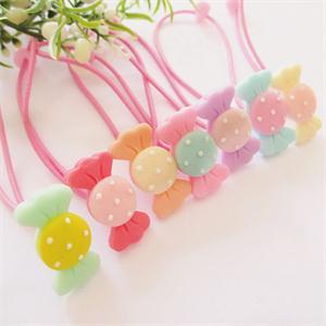 MO Practical 10X Children Girl Elastic Candy Hair Band Headwear Circle Hair Rope Hair Ponytail Holder OM(China (Mainland))