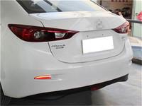 LED car brake light,  rear fog lamp case for Mazda 6 Atenza 2013~ON, car night running light + turn signal + brake light 3 to1