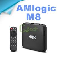 DHL Free Ship Amlogic S802 Quad Core Media Player Bluetooth Dual Wifi 2.4G/5G 1080P HDMI XBMC Full Loaded DDR3 2GB 8G M8 TV Box
