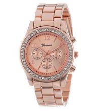 2015 New Arrival Geneva Watch Full Steel Watches Women dress Analog wristwatches men Casual watch 2015