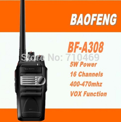 DHL freeshipping+10pcs/lot Baofeng long range walkie talkie bf-a308 with 5W high power walkie talkie 10km fm radio transceiver(China (Mainland))