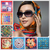 2015 NEW Spring Silk Scarf !! Europe Fashion Women Square  Scarf  90*90CM (H3)